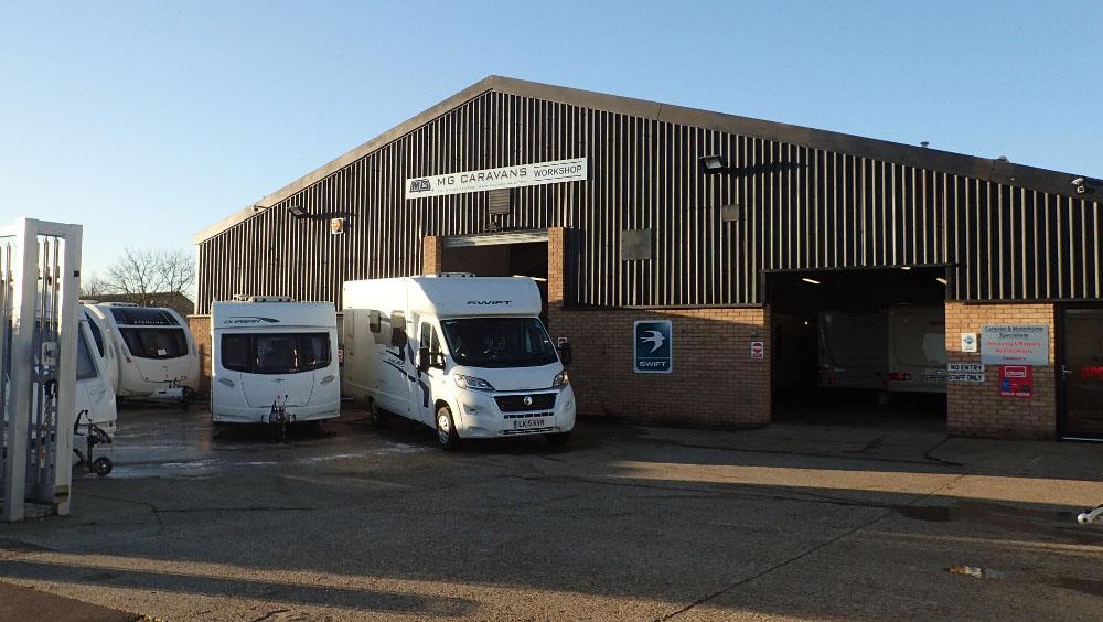MG Caravans workshop exterior